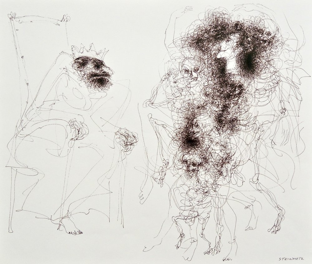 "Artist: Leon Steinmetz  Name: Dance of Salome  Size: 14"" x 15.5""  Method: pen and ink  Condition: original  Price:  Inquire"