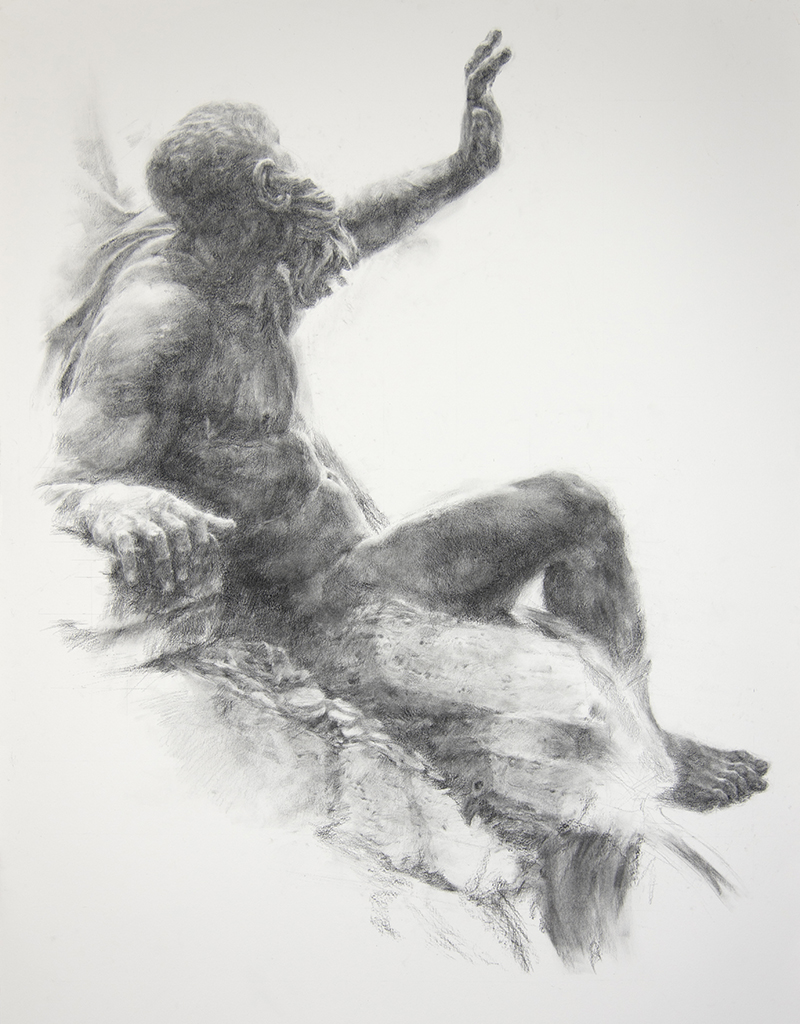 "Artist: Wendy Artin  Title: Big Rio della Plata Dark  Date: 2018  Size: 40"" x 55""  Method: Charcoal  Price:  Inquire"
