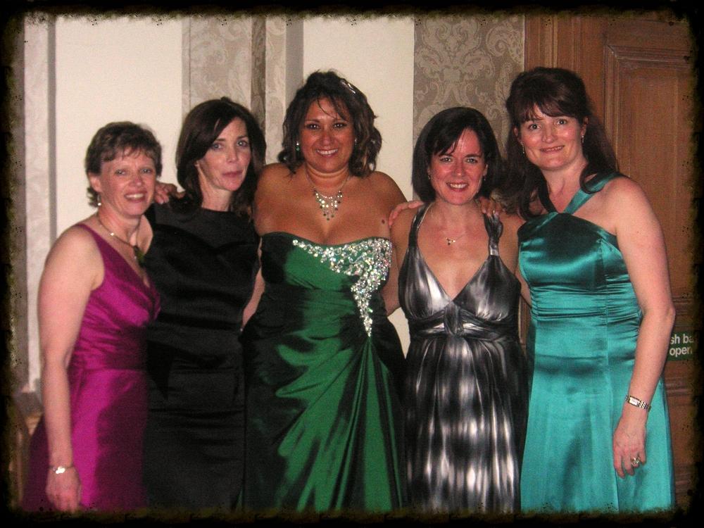 Macmillan's angels: Gill, Laura, (me), Caroline, Liz