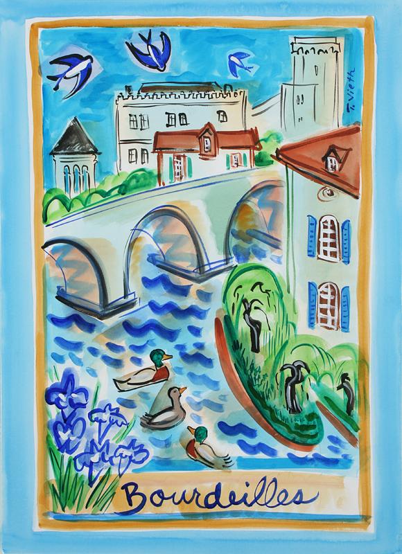 Find your Joie du Soleil tea towels in France......