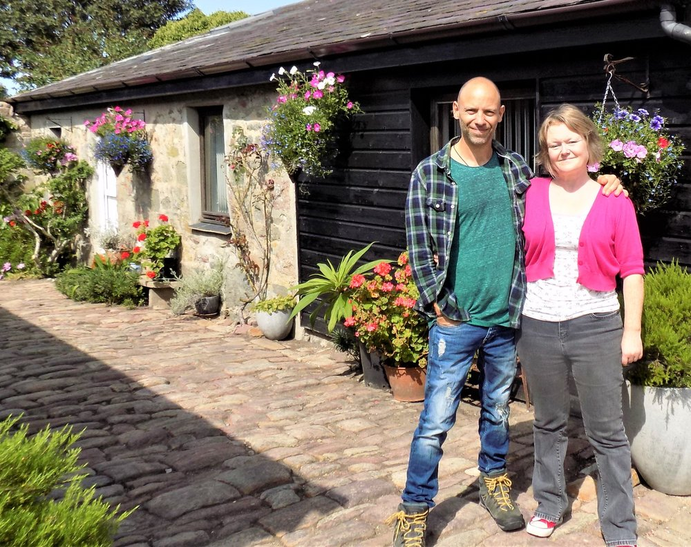 Farm Court is run by husband and wife team, Bobbie and Jamie - Bobbie and Jamie moved to the island from Cardiff in 2011, and took on the job of managing Farm Court in 2017. Jamie is an accomplished guitarist, and Bobbie has been known to pen the odd creative piece here and there. Both enjoy the variety of life in Alderney, and will help you to discover its innate quirkiness.