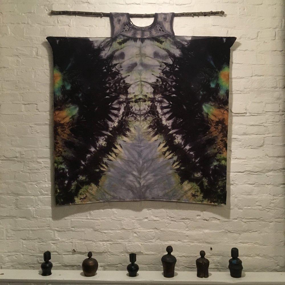 The Bones Beneath (Crochet and Hand Dyed Silk)