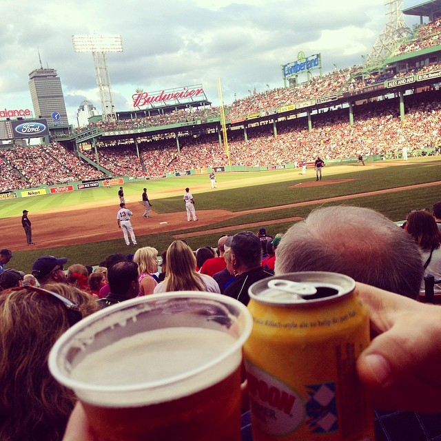 From #prideboston to #redsoxnation we've had a nice little Saturday so far @mattytilden cheers! (at Fenway Park)