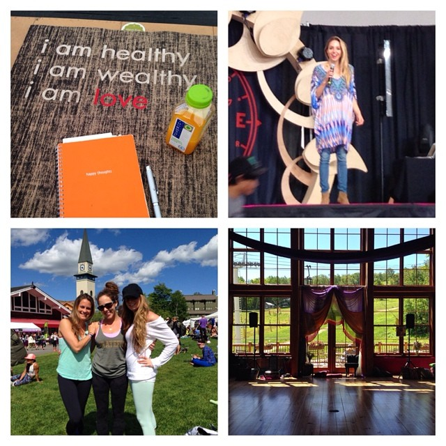 What an amazing 2 days at #wlstratton! Feeling sore, happy and grateful w/ @jessi_joyner 💛@gabbybernstein was my highlight for sure #bethelight