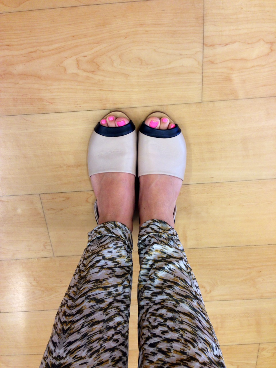 """Stopped into Marshall's on my way back to work because my """"flip flops of pain"""" were causing some serious blisters. Found these chic flats by Steve Madden on sale- huge win!"""