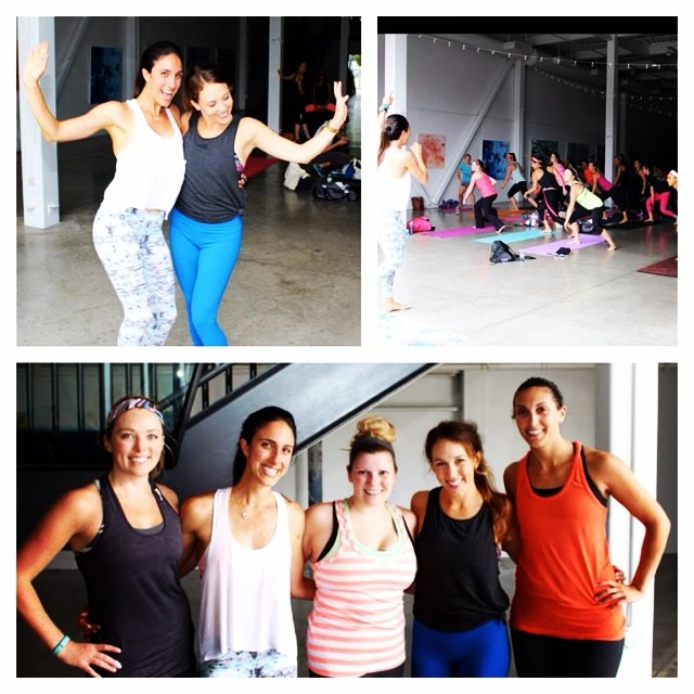 Sunday's workout w/ the fabulous @sweatwithlaurenhefez Loved being part of this awesome class!! #latergram #sweetsweat