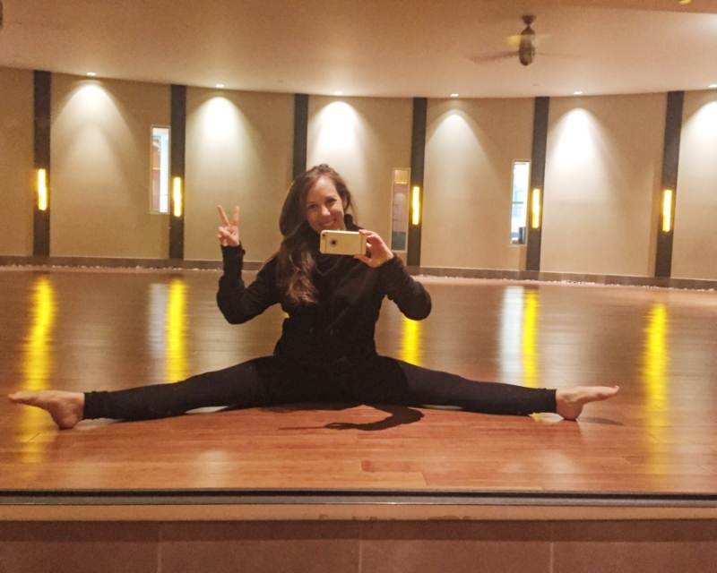 Stretch it out before class @ Equinox Dartmouth st.