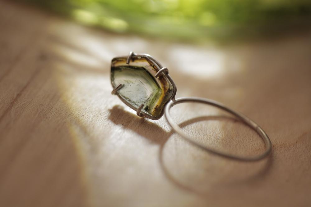 Tourmaline Silver Ring