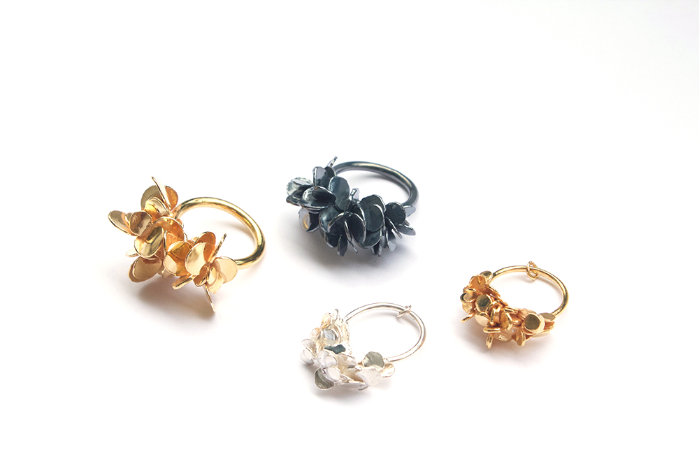 'Drop by drop' rings