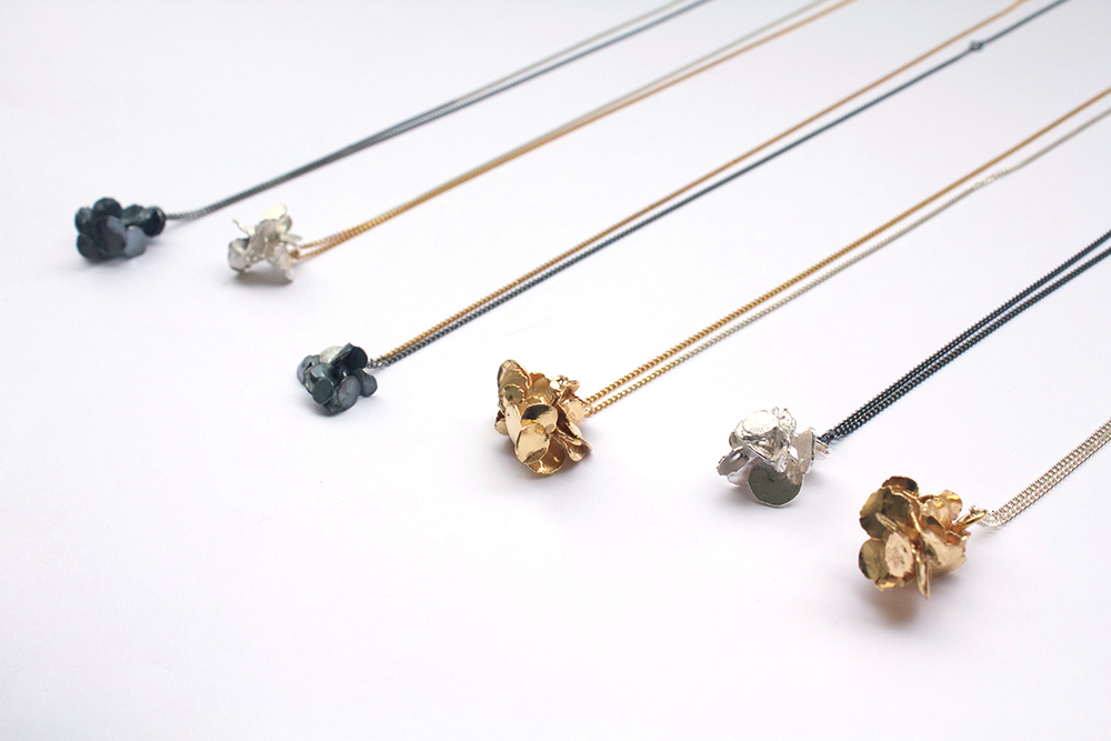 'Drop by drop' necklaces