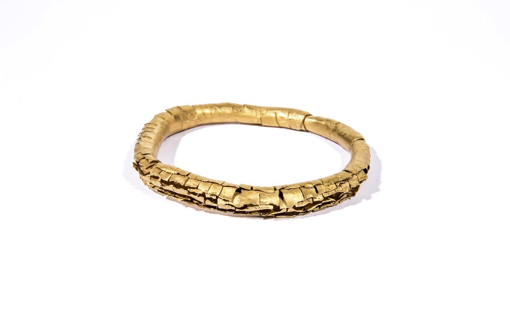 'Sense of Belonging' Bangle, Metal, Gold-Plated with Engraved Words.jpg