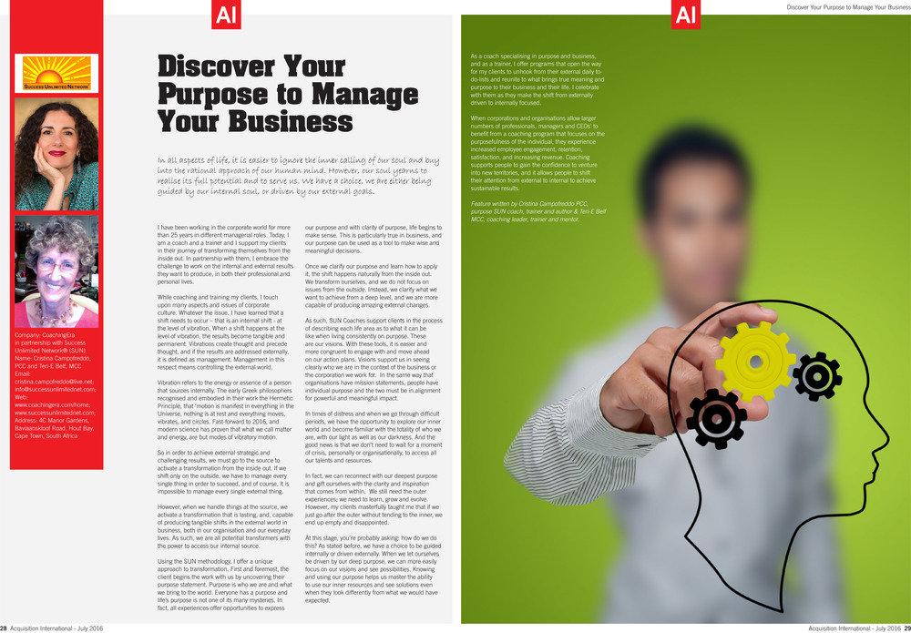 Article on AI Globalmedia Magazine - July 2016 Issue