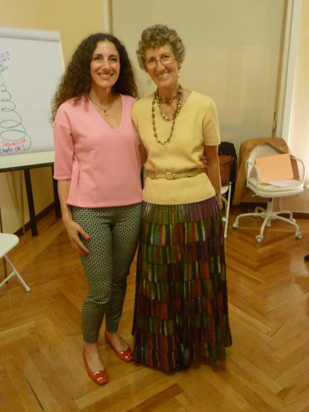 Cristina Campofreddo & Teri-E Belf (1st World Master Coach, Founder of Success Unlimited Network) - Madrid 2014