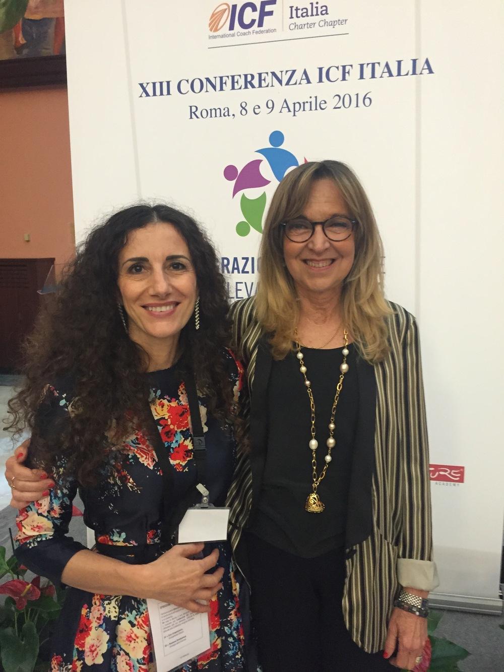 Cristina Campofreddo & Giovanna Giuffredi (Founder of LCI, ICF Italia President 2016) - Conferenza ICF Roma 2016
