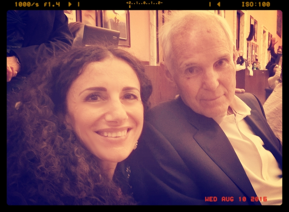 Cristina Campofreddo & Timothy Gallwey (Father of Coaching and author of 'The Inner Game of Tennis') - Roma 2016