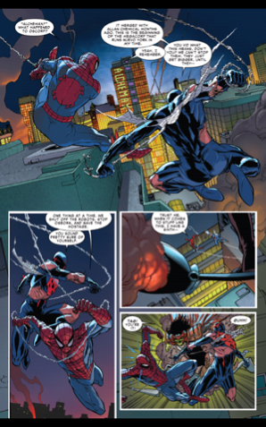 (The Superior Spider-Man issue #31) illustrated by Gisuppe Camuncoli