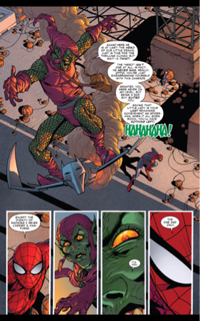 Green Goblin's good at playing guessing games (The Superior Spider-Man issue #31)