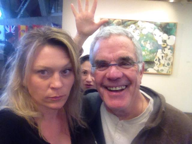 My pal Paul Klein and I, photobombing by artist Diana Gabriel