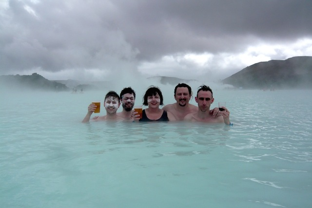 Scottish indie rock musician, Withered Hand, and his crew at the Blue Lagoon.