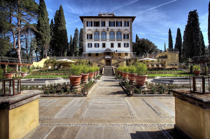 Il Salviatino is a hand-restored 15th century villa on the hillside of Fiesole, Italy (c)  Il Salviatino