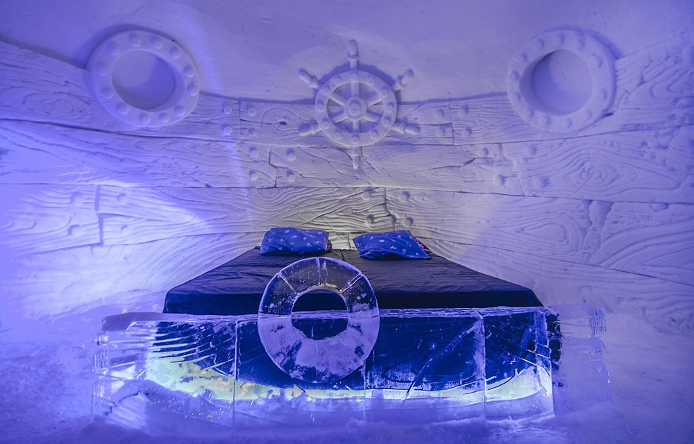 No need for an air conditioner here. Image courtesy of the Kirkenes Snowhotel.