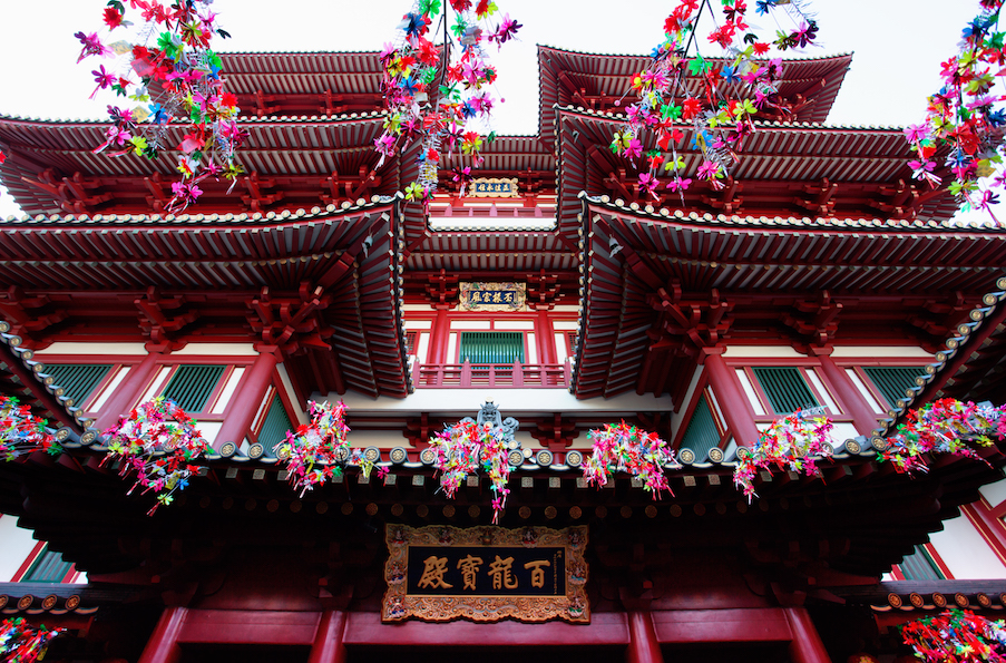 Buddha Tooth Relic Temple and Museum. Image Courtesy of the Singapore Tourism Board.