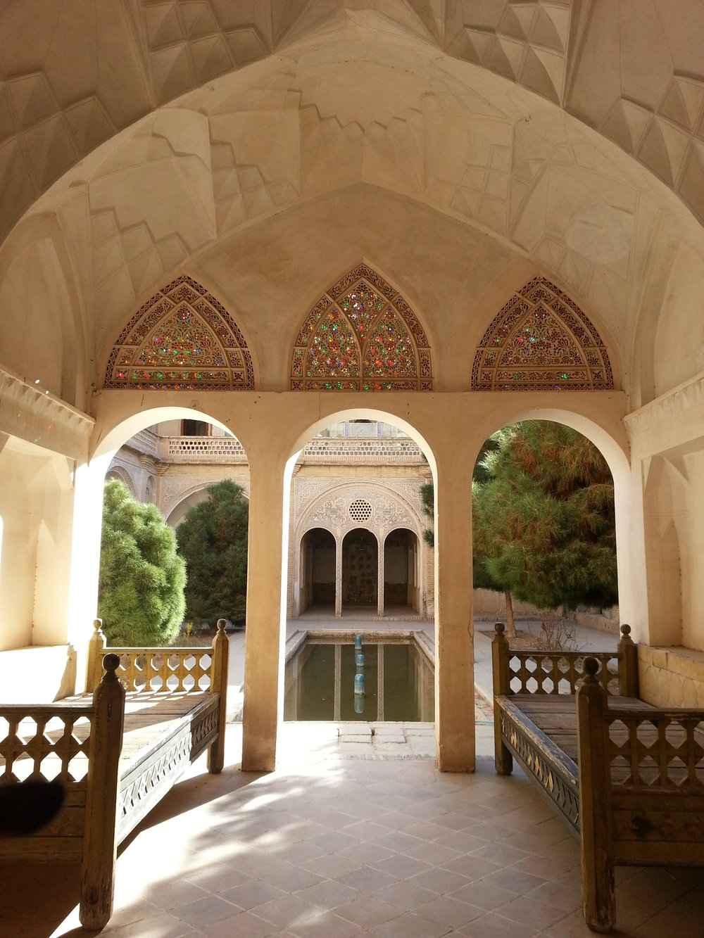 Abbasi House, a historic home located in Kashan, Iran