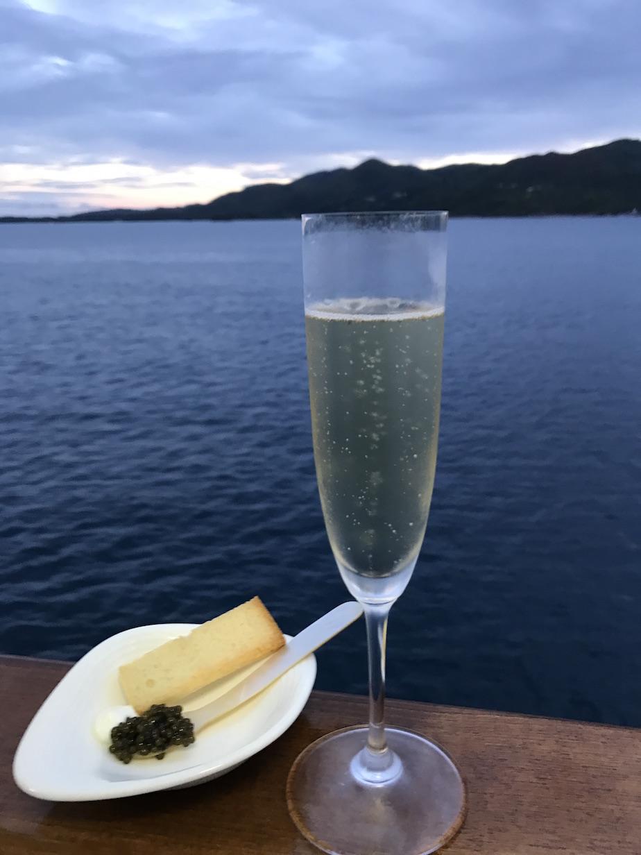 Champagne and caviar cuz #yachtlife