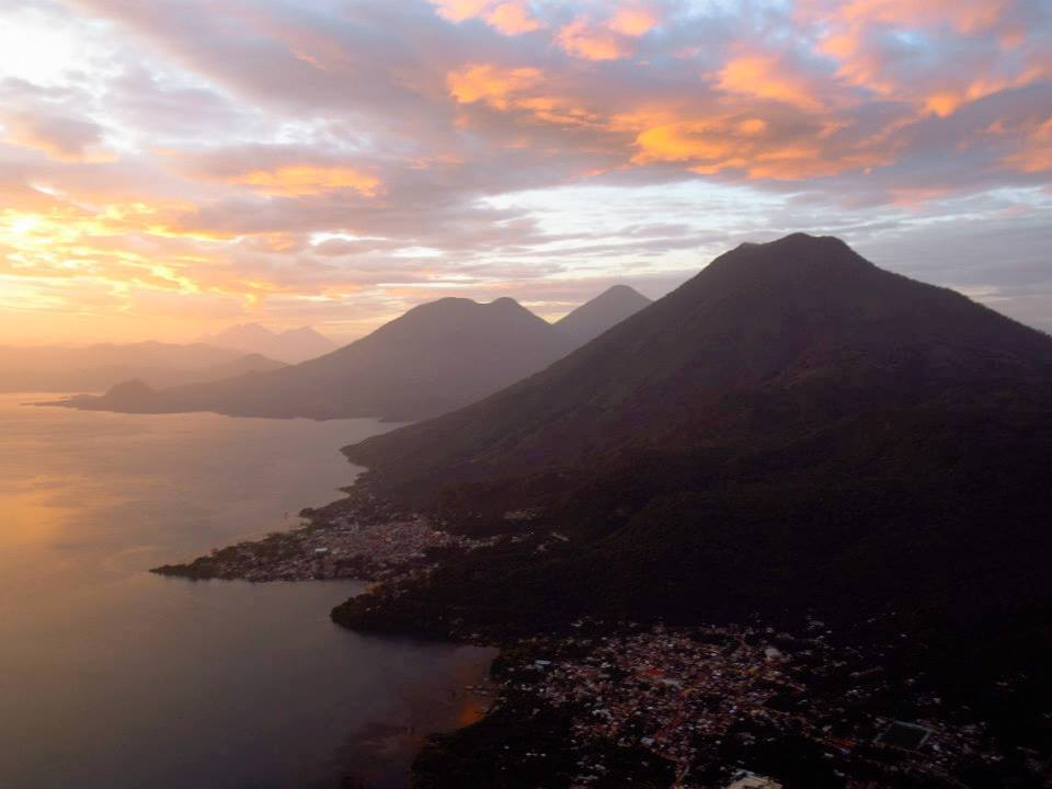 Sunrise over Guatemala's Lake Atitlán