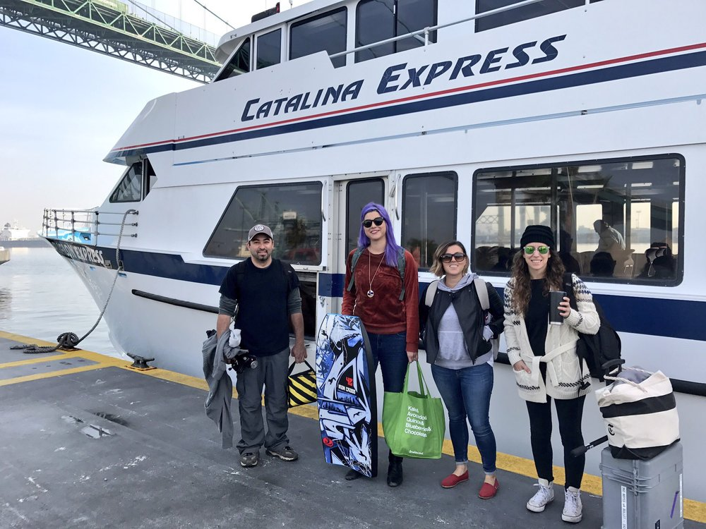 The crew on our way to Catalina Island. But where are the dolphins?