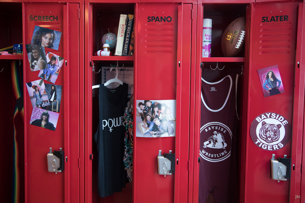 Screetch, Jessie and Slater's lockers. Image courtesy of Tyler Curtis.