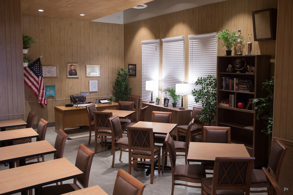 Diners can opt for detention … and sit in Mr. Belding's office. Image courtesy of Tyler Curtis.