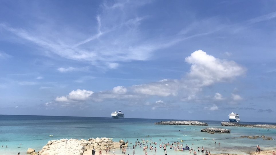 One of the stops on our seven-day Western Caribbean cruise was Great Stirrup Cay in the Bahamas.