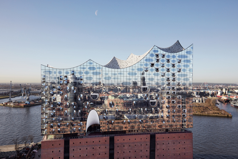 The Elbphilharmonie is an $850 million symphony hall located along the River Elbe. Image courtesy of Maxim Schulz.
