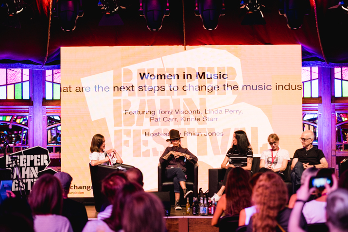 "The 'Women in Music"" panel is part of Reeperbahn's cultural programming. Image courtesy of Lena Meyer."