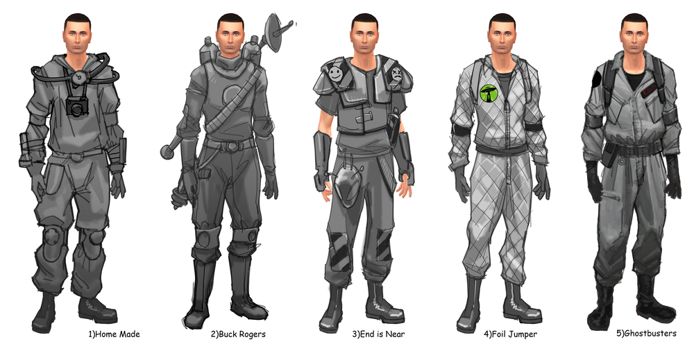 Alien Hunter Rough Concepts