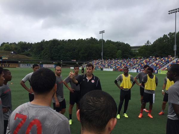 Atlanta Silverbacks new head coach Jason Smith ahead of his first match at the helm (Photo @AtlSilverbacks)