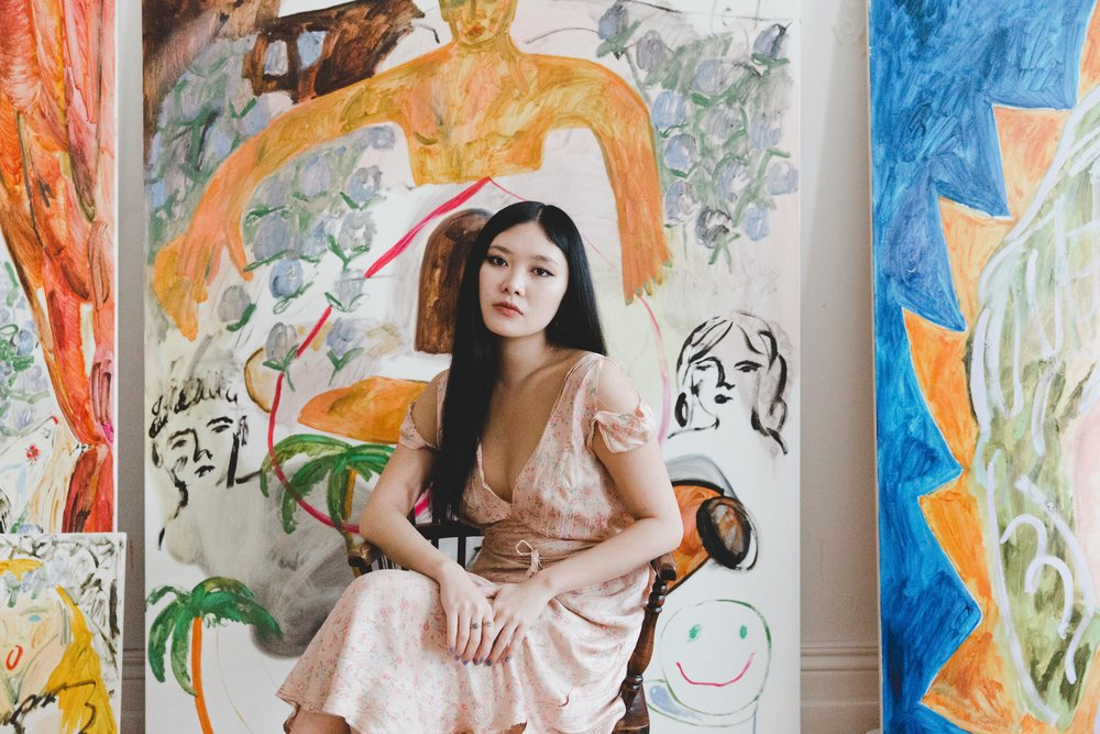 faye wei wei x g-irl commissioned / portrait / interior
