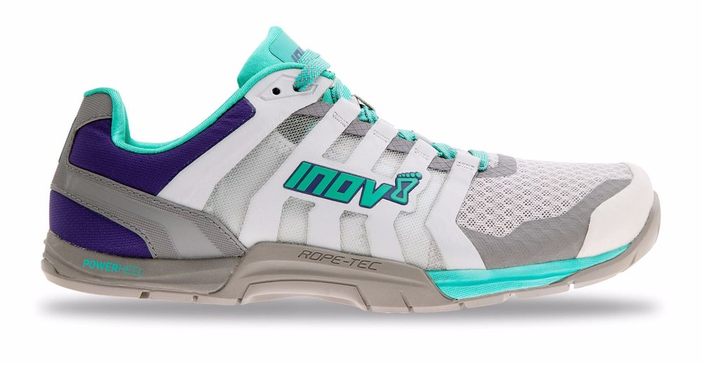 The Inov-8 training f-lite 250.  Great for all we do at the studio and some light running. Great grip for Off The Wall. https://www.inov-8.com/women/shoes/training/f-lite-235-v2-womens-training-shoes-grey