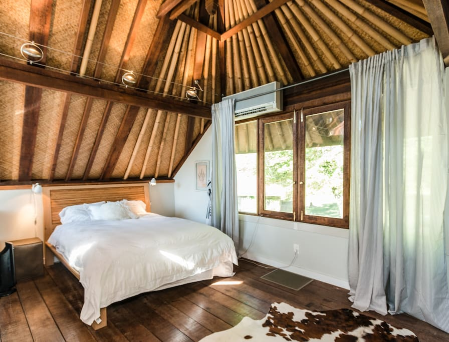 One of the cottage bedrooms, made for deep dreaming and a great nights sleep!