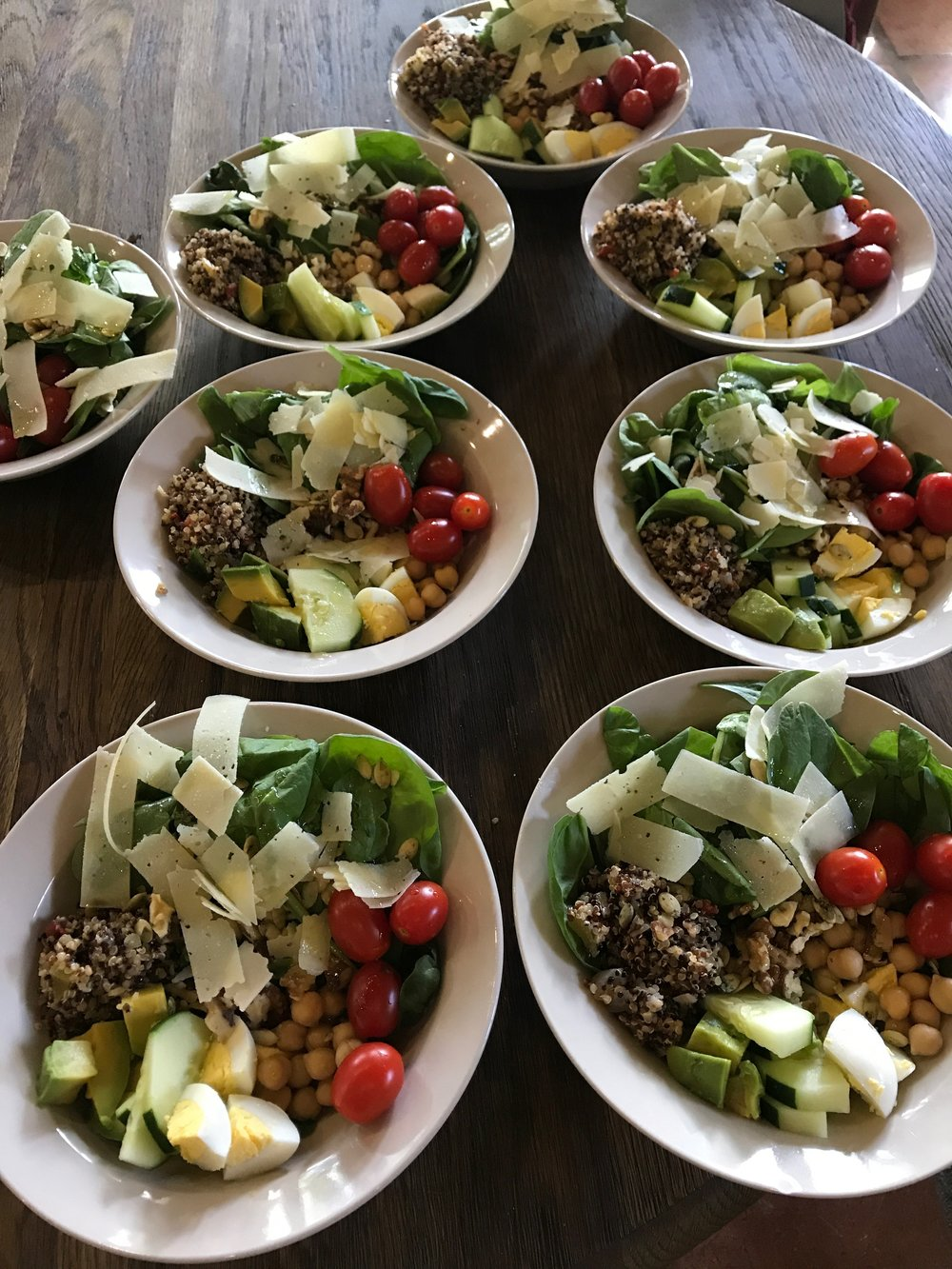 Protein Bowl - A simple lunch before an afternoon of great hiking.  Protein, grains and healthy fats are a staple in a healthy diet in the proper portion size.