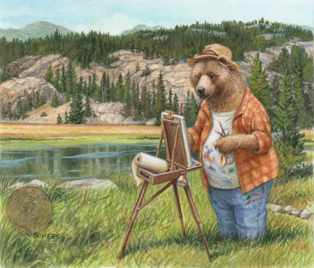 plein air bear w penny.jpg