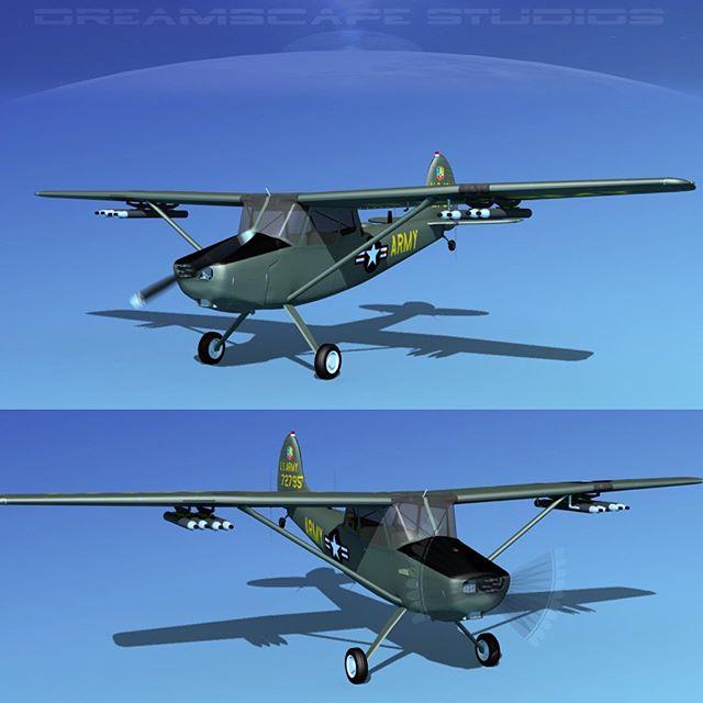 Cessna O-1E L-19 Bird Dog #cessna #cessnal19 #cessnao1 #cessnalovers #historicaircraft #militaryplane #instaplane #aircraft #dreamscape3dmodels #airplane #dreamscapestudios #cessnaaircraft #3dplane #3daircraft #planes #aviationlovers