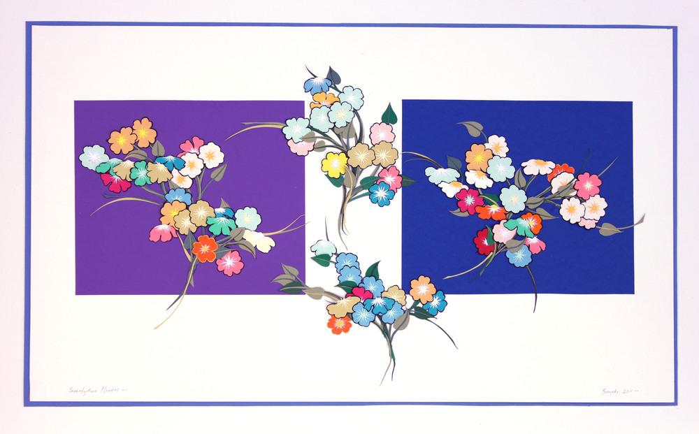 "Seventy-two Flowers   27 x 17""             $450"