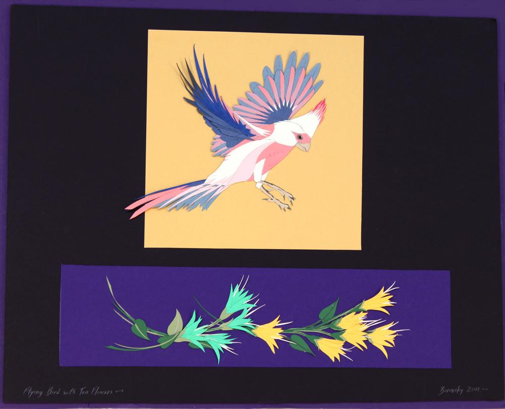 """Pink and Grey Cardinal    18 x 15""""  $450"""