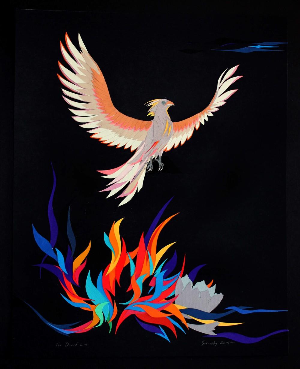 "Phoenix Rising      18 x 22""       SOLD"