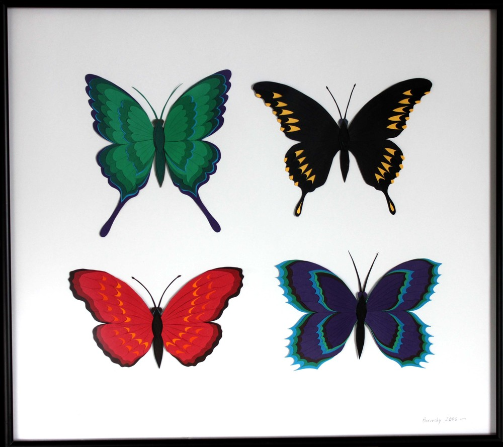 "Four Butterflies       18 x 16""      Not For Sale"