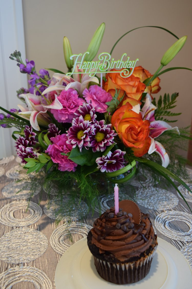 Birthday Blooms And A Giant Cupcake Too Lavender Hill Florals