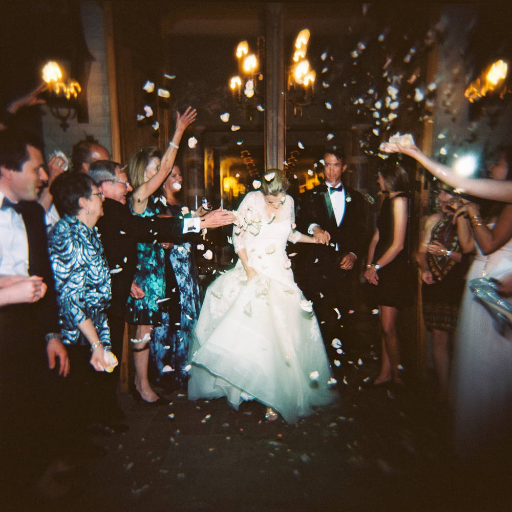 Rose Petals- 8 Awesome Alternatives to Sparkler Exits - Photo: www.kristinsweeting.com