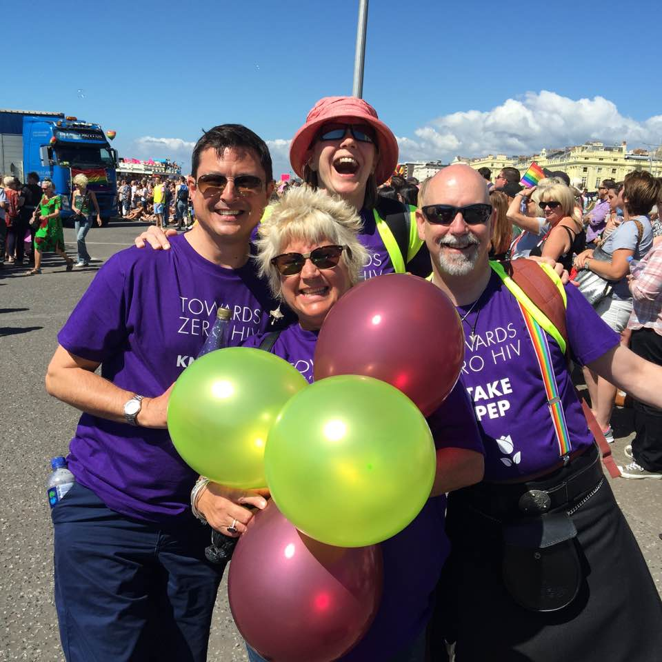 TOWARDS ZERO HIV volunteers walk in the Brighton & Hove Pride Parade 2016